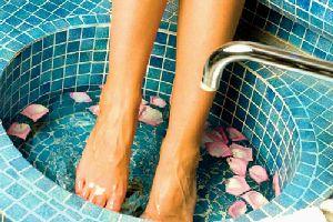 Как делать ванночки для ног.
